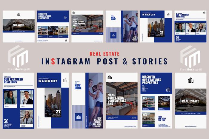 12 Real Estate - Instagram Posts & Stories