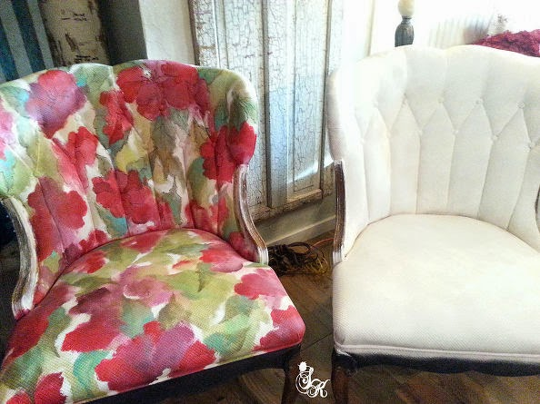 DIY tutorial how to give a chair a makeover with fabric paint.