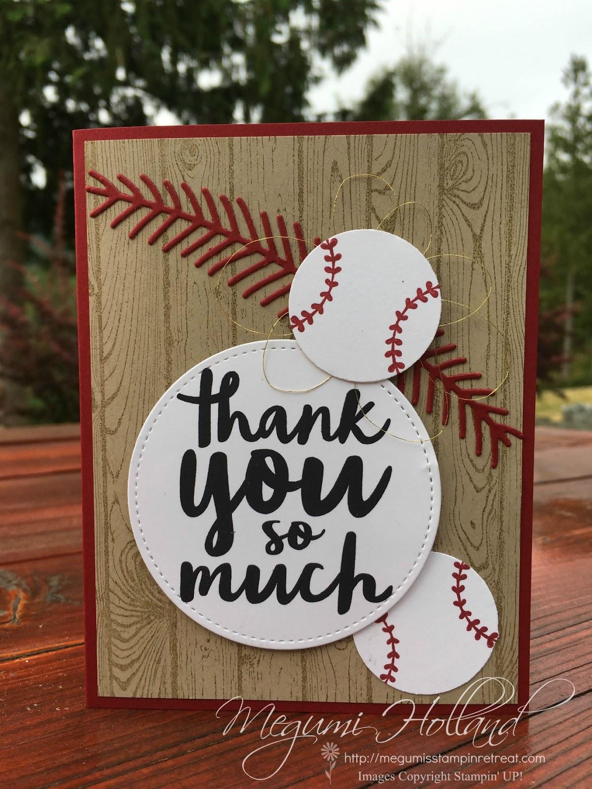 Megumis Stampin Retreat Christmas Pines Baseball Cards