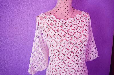 5 - CROCHET IMAGEN Blusa con mangas a crochet y ganchillo. MAJOVEL CROCHET