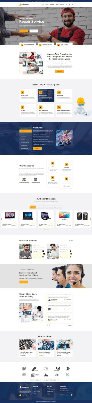 Computer and Mobile Repair Store PSD Template