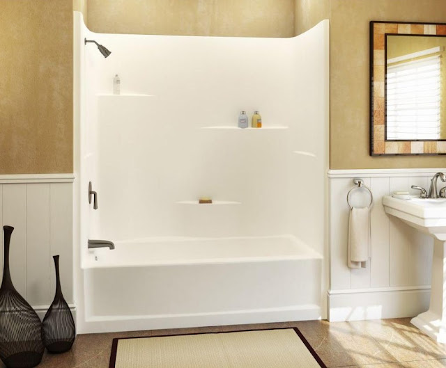 bathroom with tubs and shower stalls