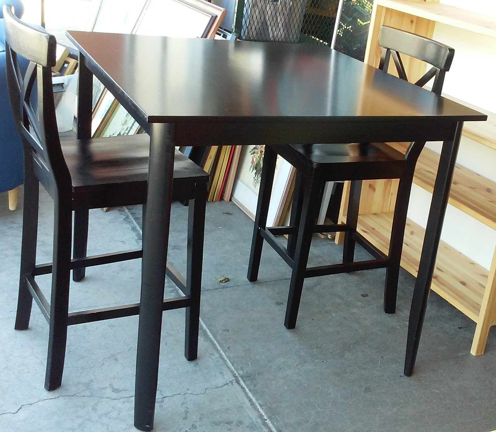 Sold 3 Foot Tall 39 Square Bistro Set Table 2 Stools 120