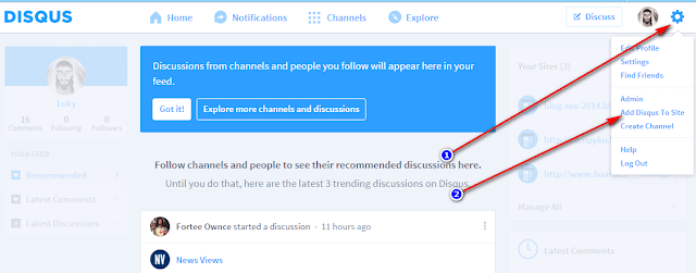 cara membuat komentar disqus di blogspot