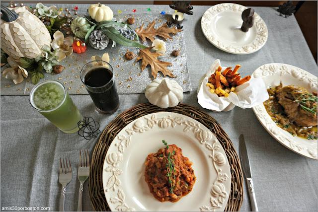 Menú y Bebidas de la Cena de Acción de Gracias 2020