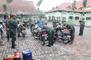 """Tim Harpal Denpal """"A"""" 02 Yogyakarta Laksanakan pengecekan Kendaraan di Kodim 0734/Yogyakarta - Commando"""