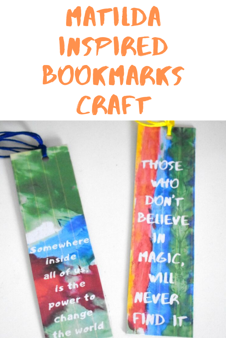 Matilda Inspired Bookmarks Craft - To Celebrate Roald Dahl Day