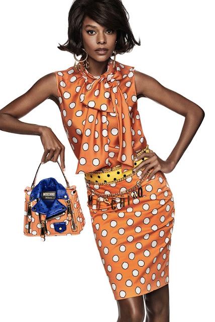 Moschino orange polka dot wear to work dress