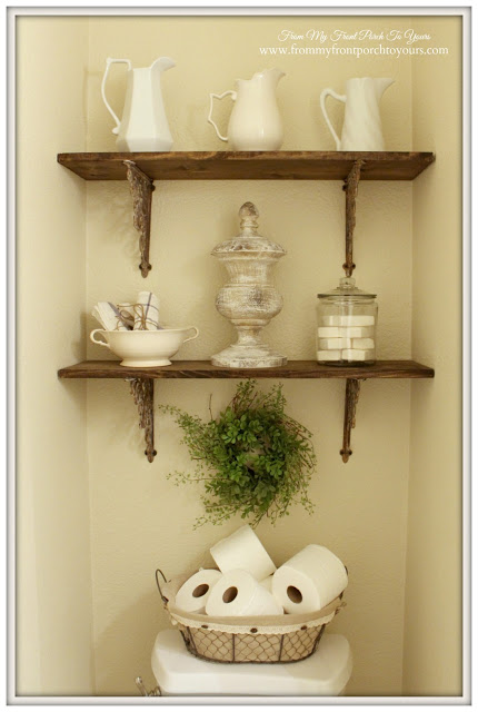 Half-Bath-French-Farmhouse-DIY-Shelving-ironstone