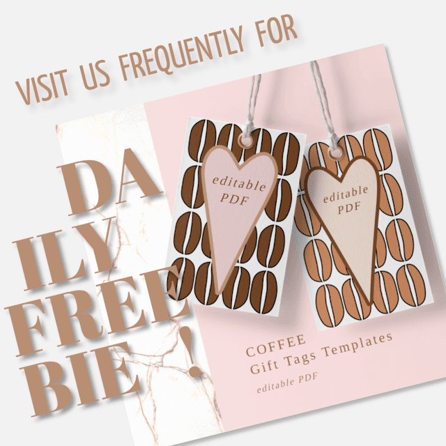 Daily Freebie Day 9 Coffee Gift Tags