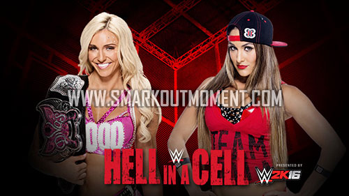 WWE Hell in a Cell 2015 Divas Title Match Charlotte vs Nikki Bella
