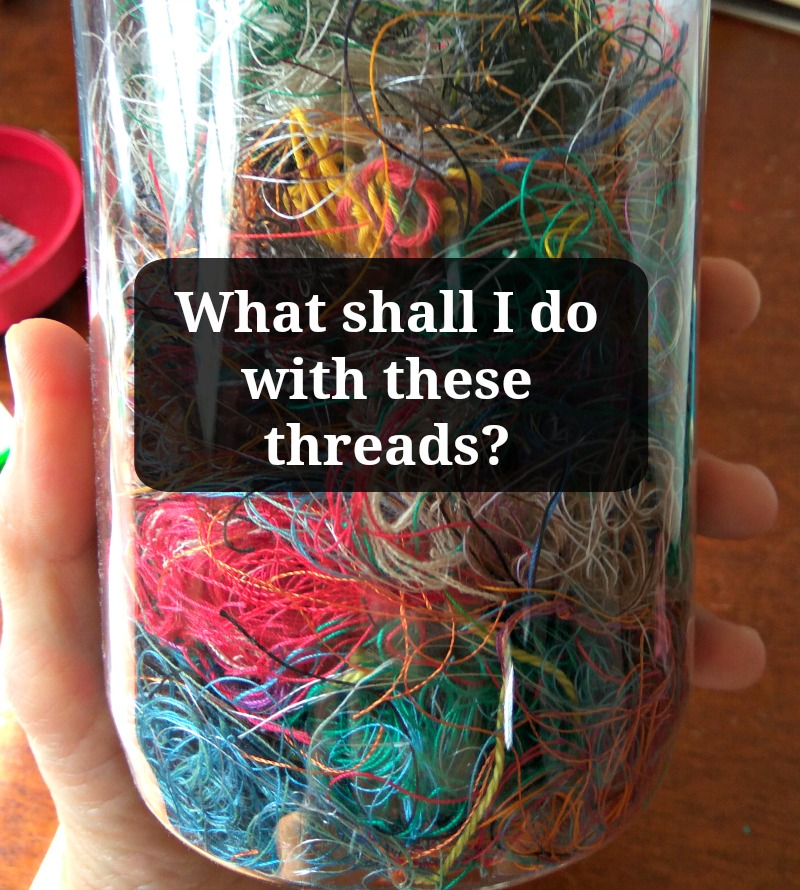 how do you upcycle your scrap threads?