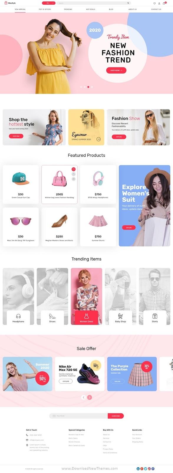 Fashion & Clothing eCommerce Adobe XD Template