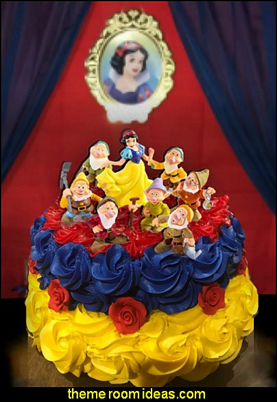 Snow White Princess and The Seven Dwarfs Figures Cake topper snow white party
