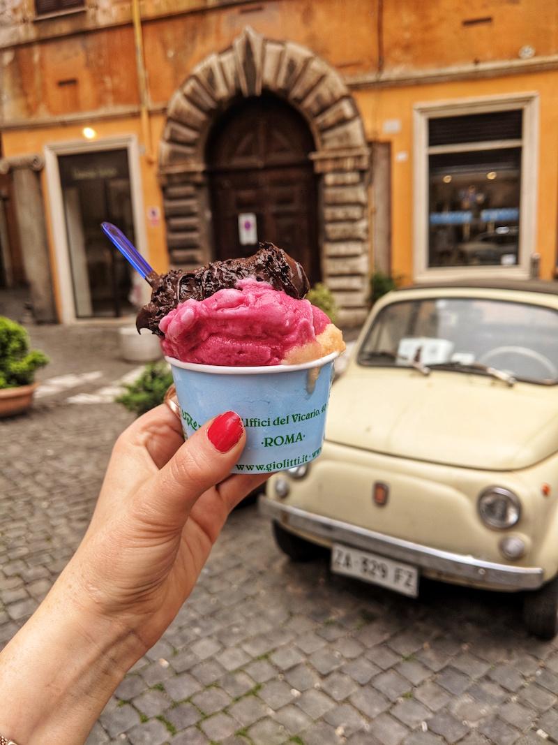 Vegan gelato from Giolitti in Rome