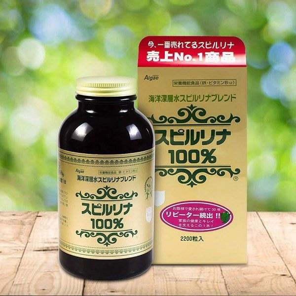 Viên Tảo xoắn xanh Spirulina, hàng nội địa Nhật Bản