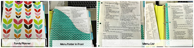 Family Planning Notebook, Weekly Menu Planning, Grocery Shopping
