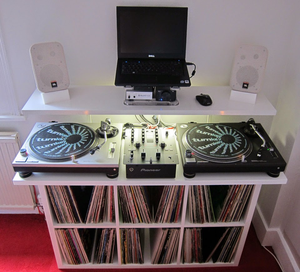 Low Cost Dj Stand With Vinyl Storage