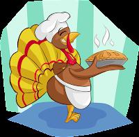 صوره كاريكاتيريه لدجاجه تقدم وجبه من اطباق الدجاج الشهيه