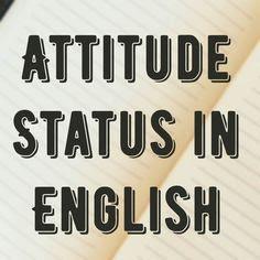 best-attitude-status-english
