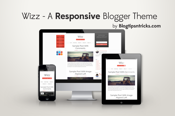 Wizz - A Responsive Blogger Template
