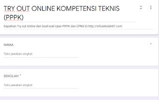 TERBARU Try Out Online Ujian Kompetensi Teknis (PPPK)