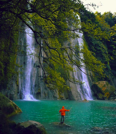 curug cikaso sukabumi is located in west java indonesia