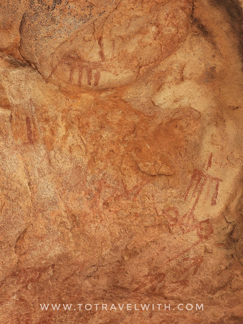 Ancient Cave Paintings near Fatehpur Sikri