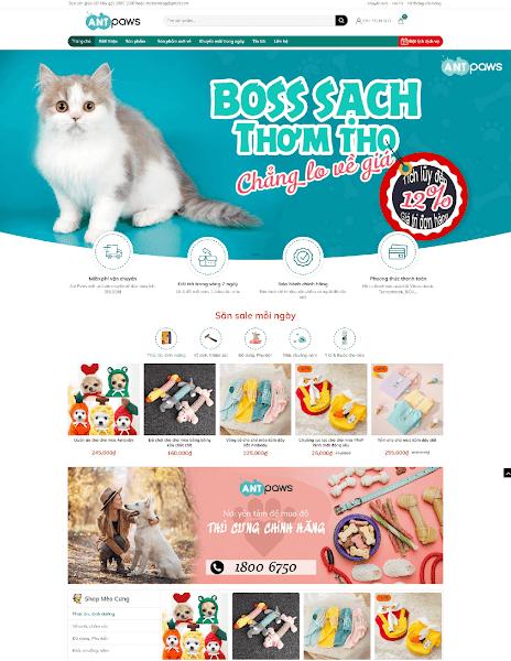 Theme blogspot bán hàng tiếp thị liên kết Ant Paws