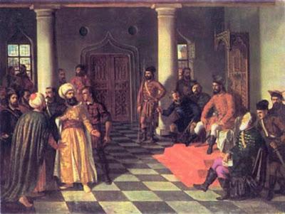 'Vlad l'Impalatore e gli inviati turchi' di Theodor Aman.