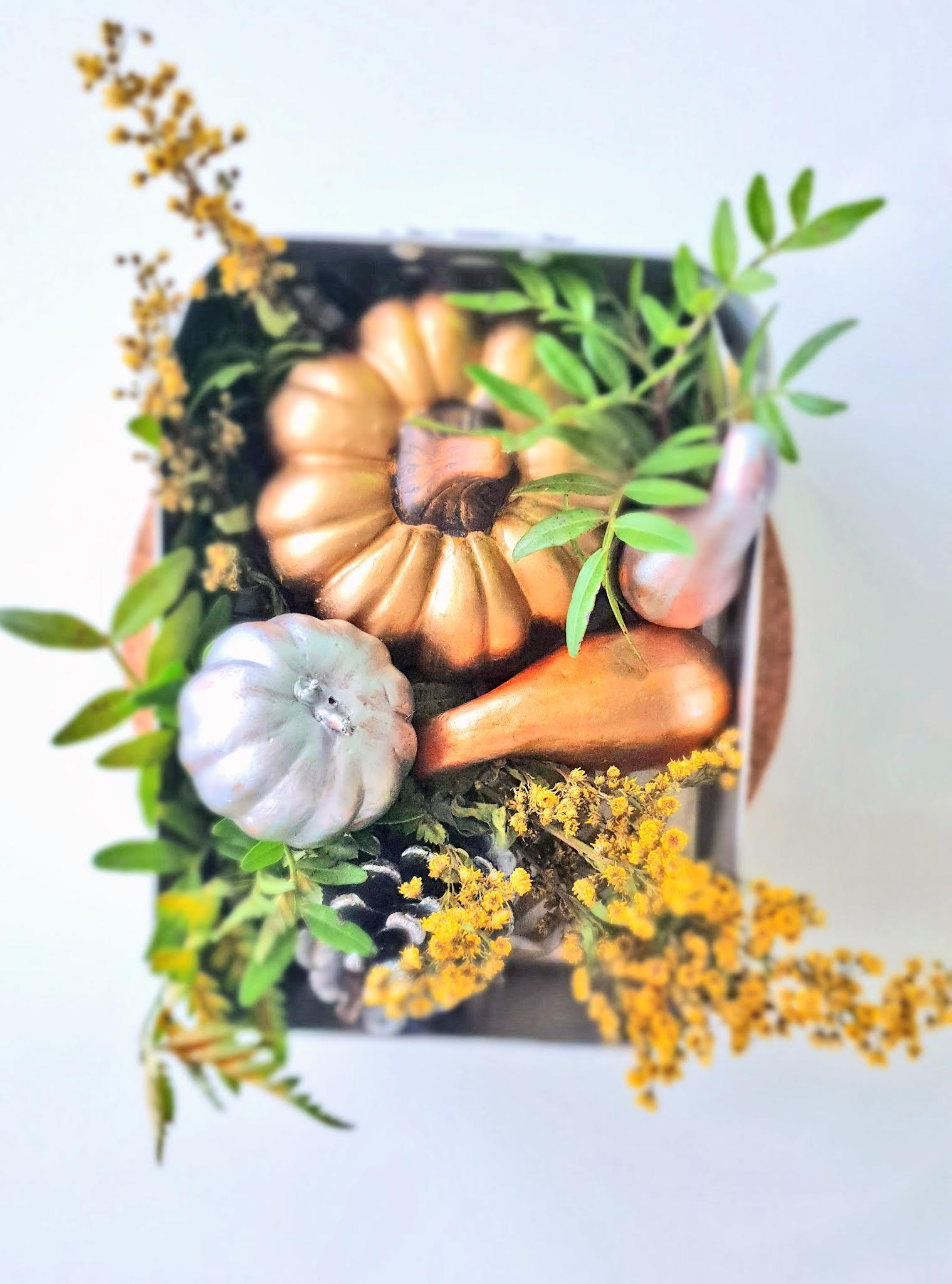 jesienny stroik z dyni