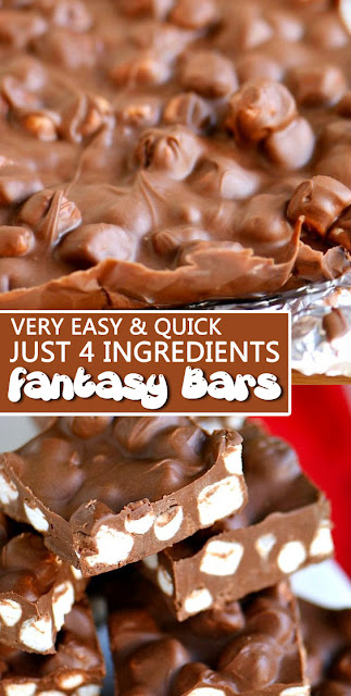 Very Easy & Quick, Just 4 Ingredients #Fantasy Bars #Recipe #dessert