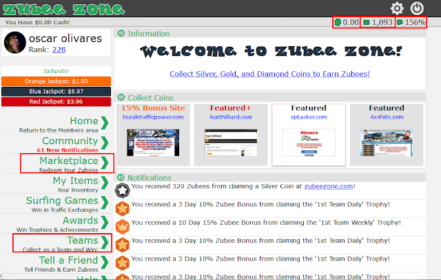 dashboard zubee zone