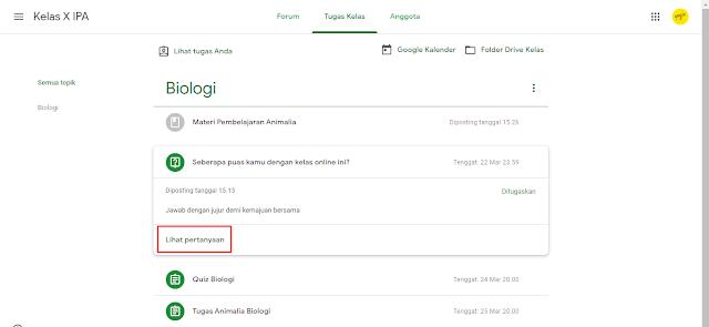 Cara Melihat dan Mengirim Tugas Kelas di Google Classroom