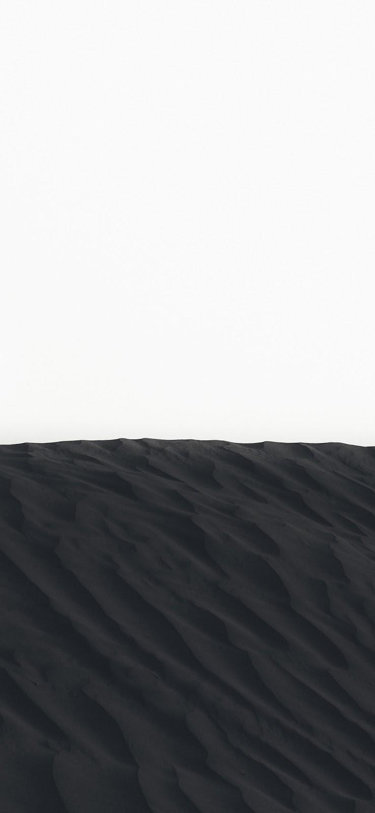 Cool black sand dunes