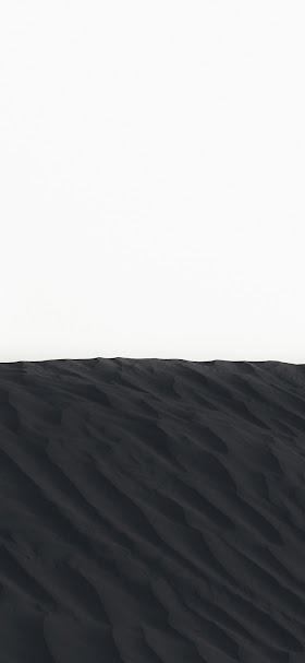 Cool black sand dunes wallpaper