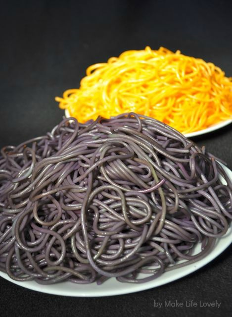 Spooky spaghetti Halloween dinner recipe