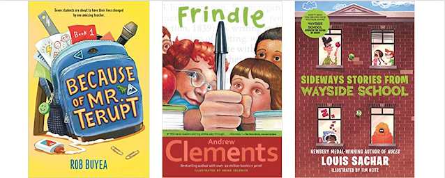 Cover image of Because of Mr. Terupt, Frindle, and Sideways Stories from Wayside Schools