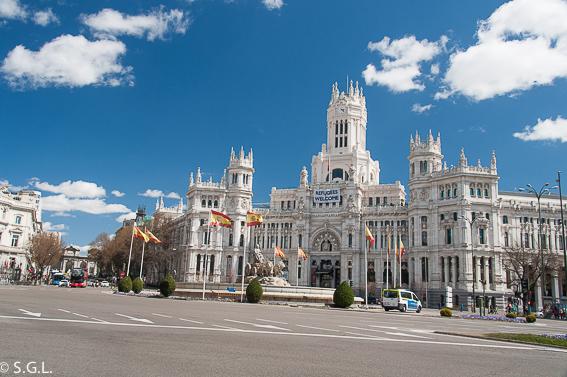 Palacio Cibeles. Ruta lowcost en Madrid