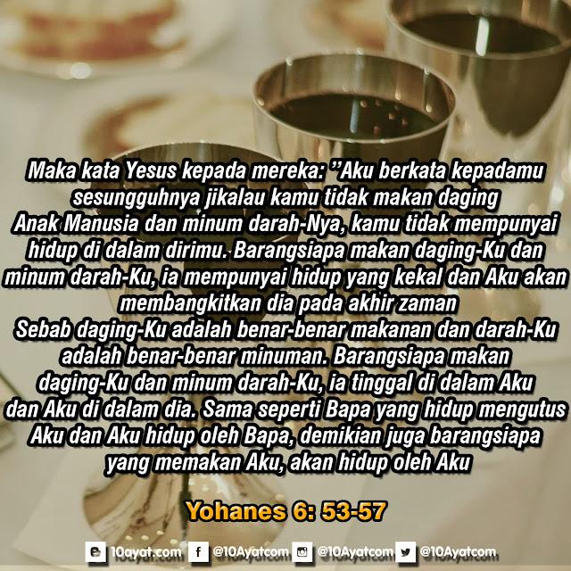 Yohanes 6: 53-57