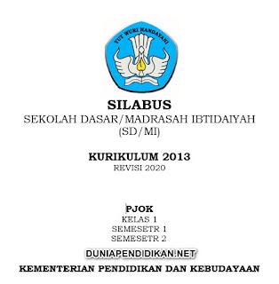 Silabus PJOK Kelas 1 SD/MI Semester 1&2 K13 Revisi 2021