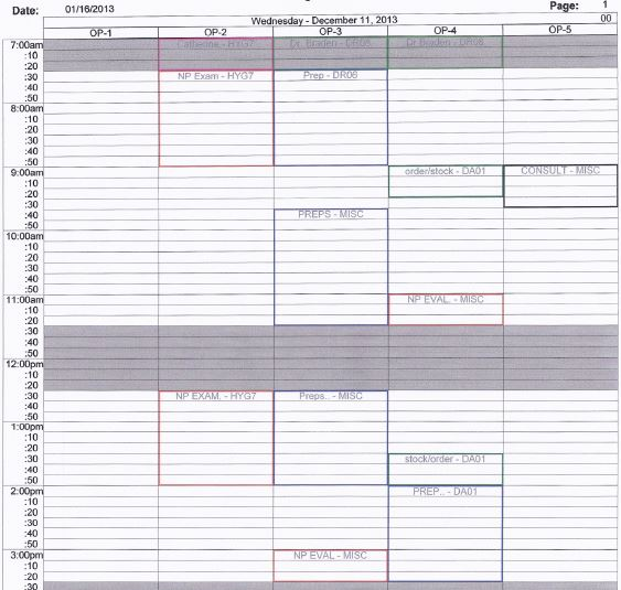 Sample Schedules Appointment Scheduling Schedule Appointment Letter - appointment scheduling sheets