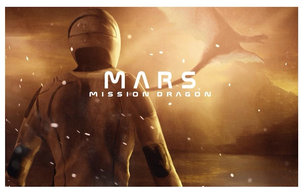 "Poster of SpaceX's Starman ""Mars. Mission Dragon"""