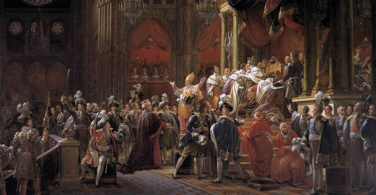 Consecration of Charles X as king of France in the Cathedral of Reims