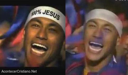 Neymar con cinta 100% Jesús
