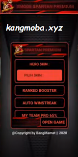 APK MOD XMODE Spartan Premium Rank Booster Mobile Legends
