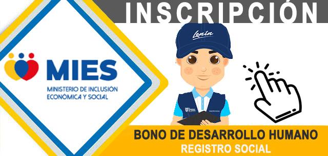 Bono de Desarrollo Humano Inscripciones por Internet 2021