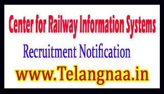 CRIS (Center for Railway Information Systems) Recruitment Announcement 2017