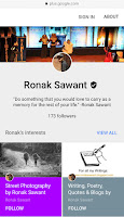Cover Photo: Verification badge on Google+ - Ronak Sawant
