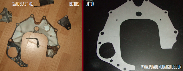 sandblasting before and after